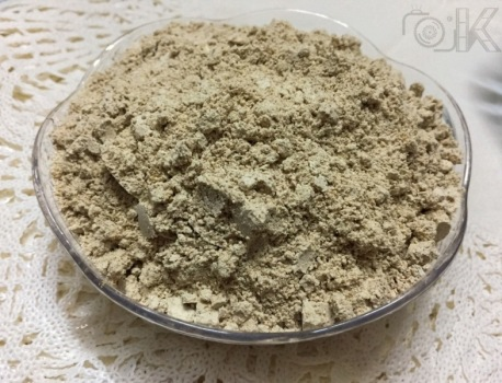 After grinding them into a fine and smooth powder.