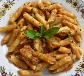 Penne Paste with red sauce cooked at home!